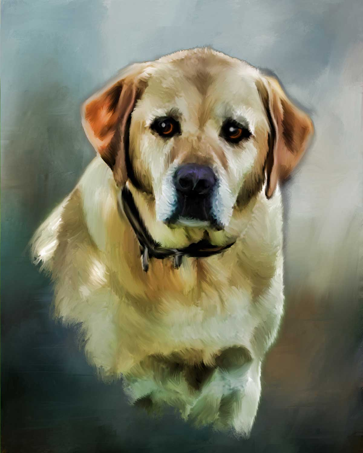 dog painting of lab